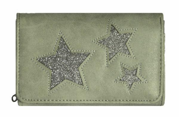 """Damen Geldbörse """"Star"""" grau/dunkelgrau"""