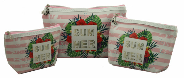 Kosmetiktasche Lifestyle 3er Set Summer