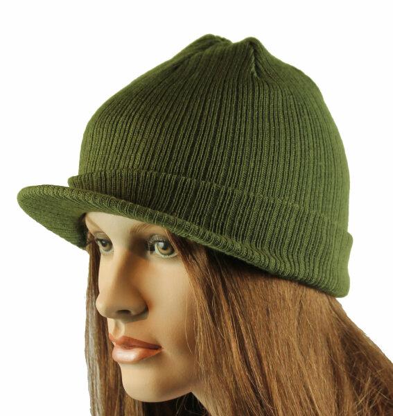 """Damen Schirmmütze Cap """"Berlin""""  grün Strickmütze mit Schirmchen"""