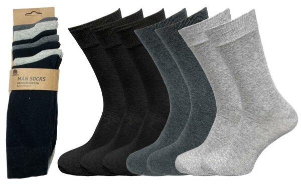 """Herren-Socken 7er Pack """"Uni"""" hoher Baumwollanteil Sparpack"""