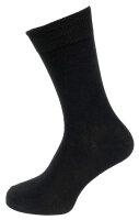 Herren-Socken 7er Pack Schwarz hoher Baumwollanteil