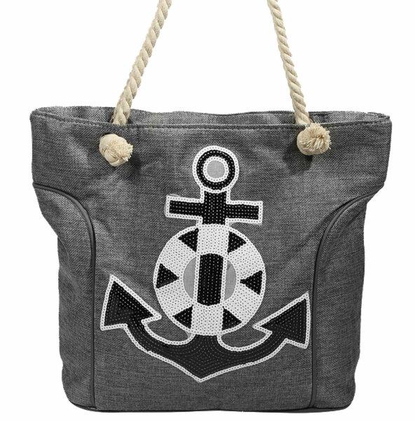 """Beach Bag """"Baltrum"""" grau"""