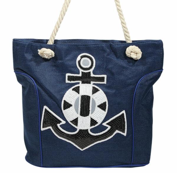 """Beach Bag """"Baltrum"""" blau"""