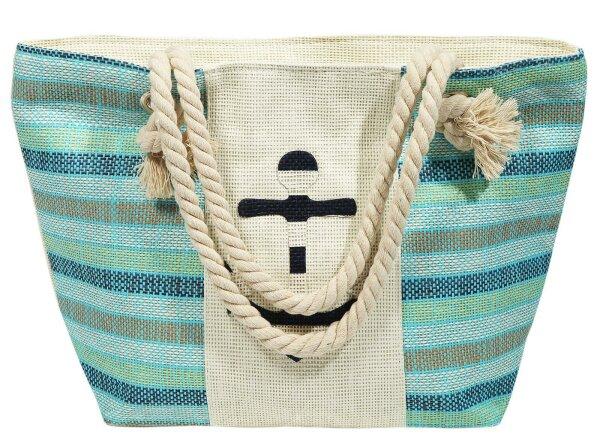 """Beach Bag """"Texel"""" hellblau"""