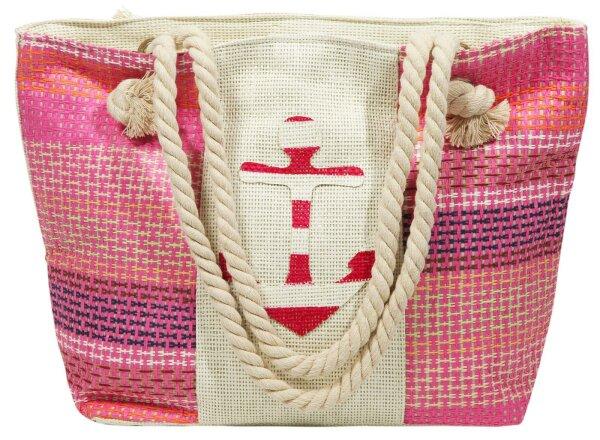 """Beach Bag """"Texel"""" pink"""