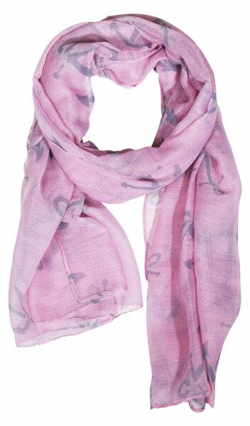 """Damen-Schal """"Anker groß""""  rosa"""
