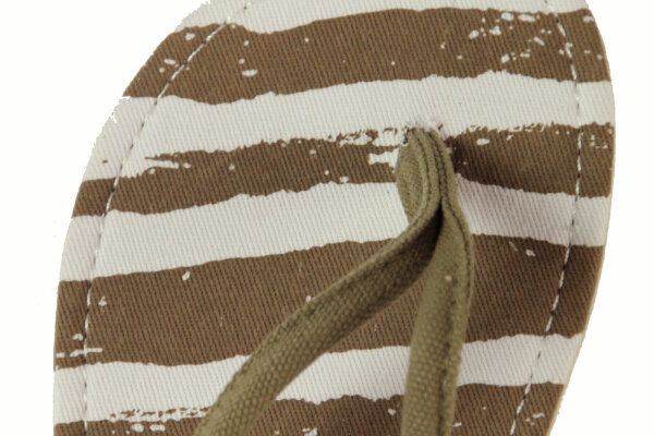 Beach Slipper Stripe taupe 37