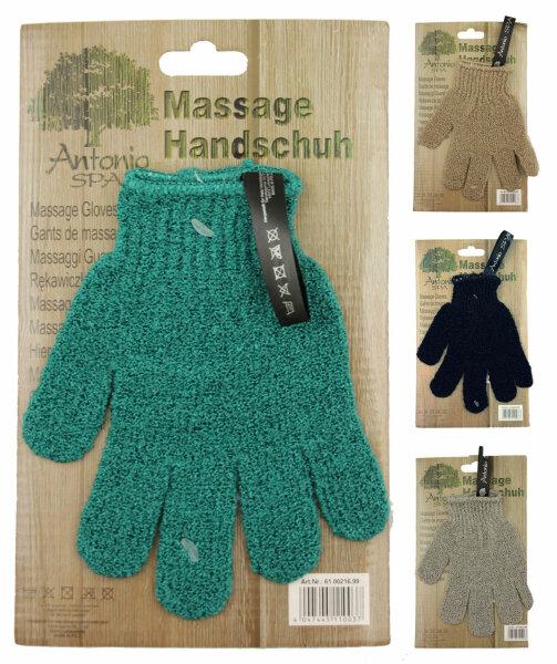 "4 Stück Massage Handschuh ""SPA"" (2 Paar) Sparpack"