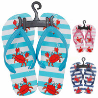 Kinder Beach Slipper Krabbe