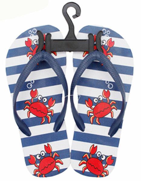 """Kinder Beach Slipper """"Krabbe"""" dunkelblau 24/25"""