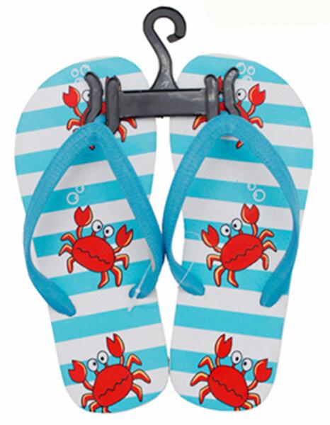 "Kinder Beach Slipper ""Krabbe"" hellblau 28/29"