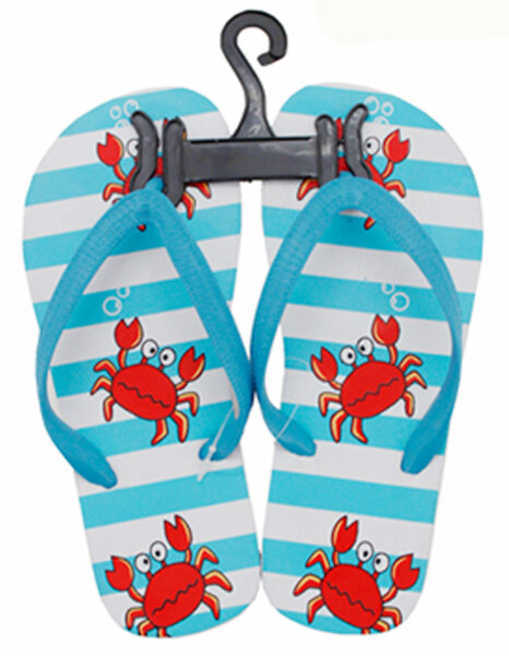 Kinder Beach Slipper Krabbe hellblau 30/31