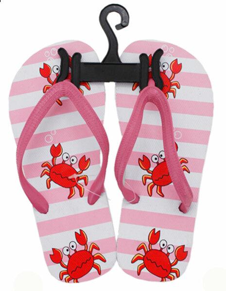 "Kinder Beach Slipper ""Krabbe"" pink 32/33"