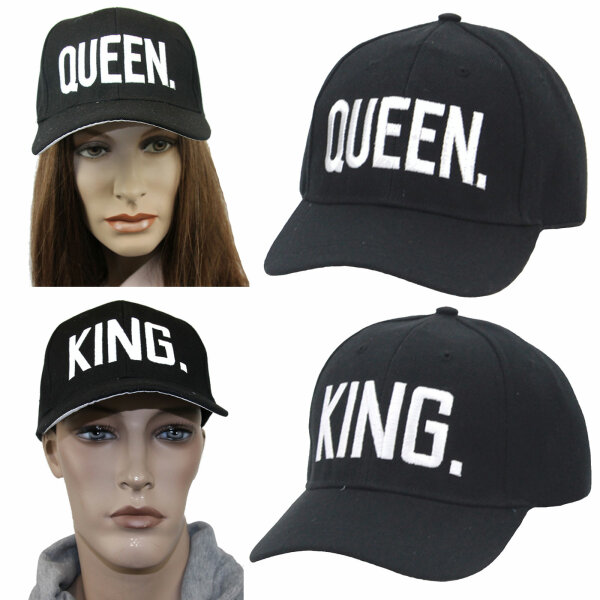 """Partner Cap SET """"King & Queen"""""""