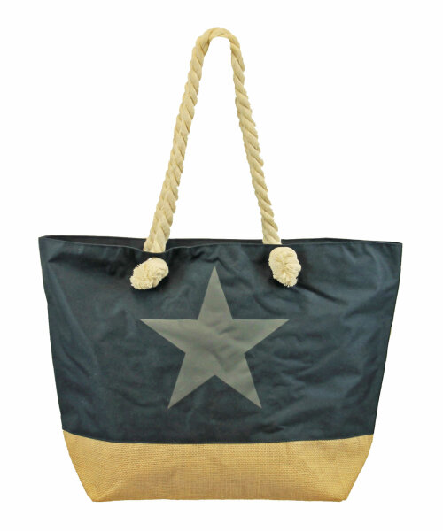 "Beach Bag ""Star"" dunkelblau"