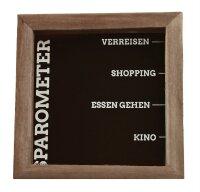 Motiv-Spardose braun  inkl. Wandhaken - dekorative...