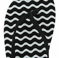 "Lady Beach Slipper ""Black & White"""