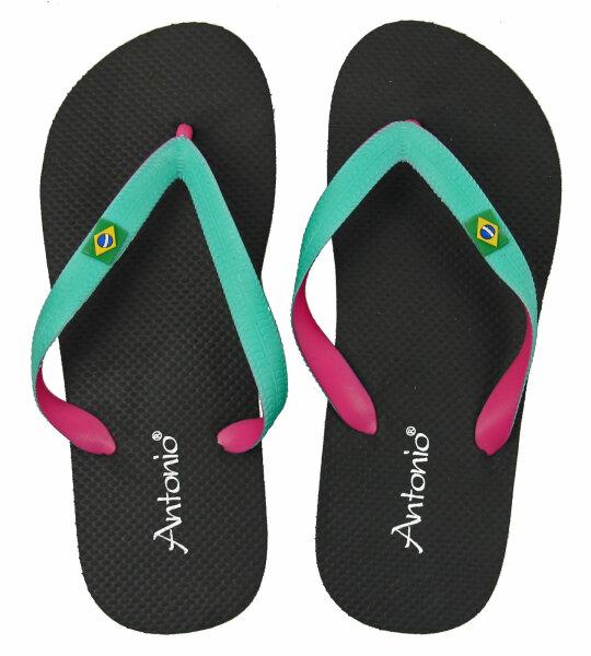 "Lady Beach Slipper ""Brazil"" 38 Schwarz"
