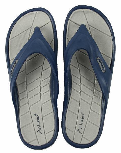 XXL Beach Slipper Men 48 Zehentrenner Blau