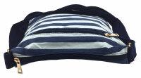 """Damen-Sommer-Umhängetasche """"Baggy"""" sommerlich-trendig im Marine-Look mit navyblau-weißen Blockstreifen"""