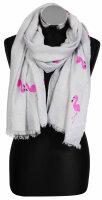 """Damen-Schal """"Flamingo"""" 180 x 70 cm kuschelig weich mit Flamingo Print in 4 Farben"""