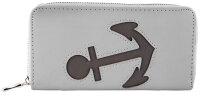 "Damengeldbörse ""Anker Cut"" großes Portemonnee im Querformat maritim Anker-Design"