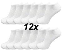 12 Paar Sneaker Socken Unisex weiß Sparpack TOP...