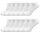 12 Paar Sneaker Socken Unisex weiß 42-45 Top Qualität und Tragekomfort