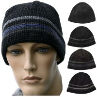 Herren-Winter-Strick-Mütze Ole Docker Cap mit Fleece-Band...