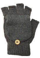 """2 Paar Winter-Handschuhe """"Flip"""" unisex, fingerlos Strick-Design mit Klappdeckel für die Fingerkuppen"""