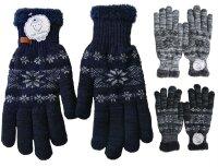 "Winter Handschuhe ""Snowflake"" unisex, Teddyfutter"