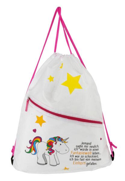 """Gym Bag """"Einhorn"""" Einhorn mit Spruch - ein Musthave für kleine und große Einhorn-Fans"""