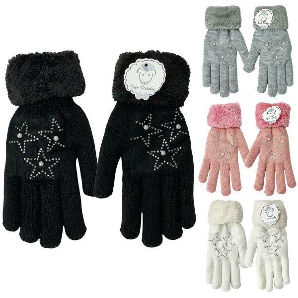 """Damen Winter Handschuhe """"Star"""" Teddyfutter"""