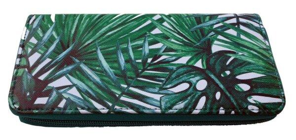 "Damengeldbörse ""Dschungel""  Grün Portmonnee im Dschungel-Design-Print Top-Trend"