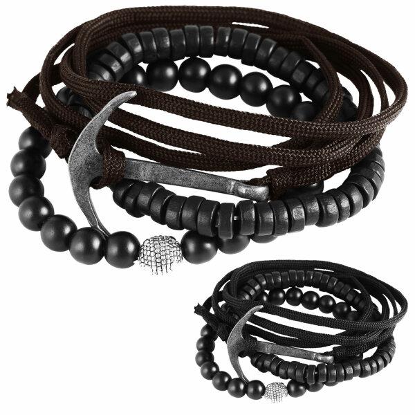 """Arnband-Set """"Anker-Wickelarmband"""" für Damen und Herren passt zu jedem Outfit"""