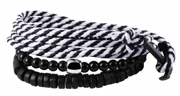 """Armband-Set """"Anker-Wickelarmband 2-farbig"""" für Damen und Herren passt zu jedem Outfit"""