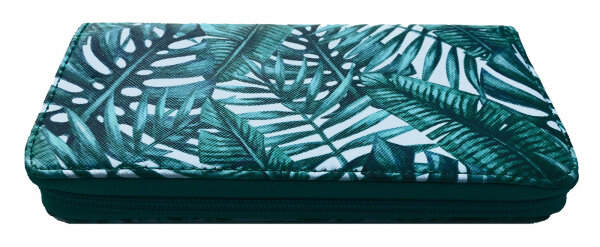 "Damengeldbörse ""Dschungel"" Grün 3 Portmonnee im Dschungel-Design-Print Top-Trend"