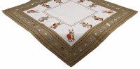 """Tischdecke """"Osterhase"""" bestickte Osterdecke mit niedlichem Osterhasen-Motiv rechteckig, als Mitteldecke oder Tischläufer"""