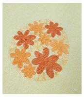 """Tisch-Mitteldecke """"Ostern"""" 85 x 85 cm Osterei-Stickerei mit ausgebogtem Rand"""