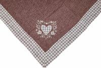 """Tisch-Mitteldecke """"Allgäu"""" 85 x 85 cm - pflegeleichte Decke im Landhaus-Stil mit Vichy-Karo"""