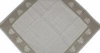 """Tisch-Mitteldecke """"Wangen"""" 85 x 85 cm - pflegeleichte Decke im Landhaus-Stil mit Vichy-Karo und Herz Stickerei"""