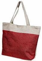 """Beach Bag """"California"""" Rot"""