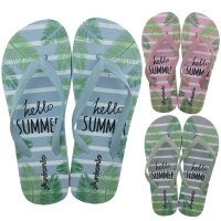 Lady Beach Slipper Hello Summer - trendiger Strandschuh...