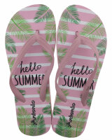 """Lady Beach Slipper """"Hello Summer"""" - trendiger Strandschuh für Frauen und Mädchen"""