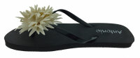 "Damen Beach Slipper ""Blossom"" - Zehentrenner mit textiler Blütenapplikation"