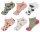 """6 er Pack Damen Sneaker Socken """"Tropical Flamingo"""" Gr. 36-41,  hoher Baumwollanteil"""