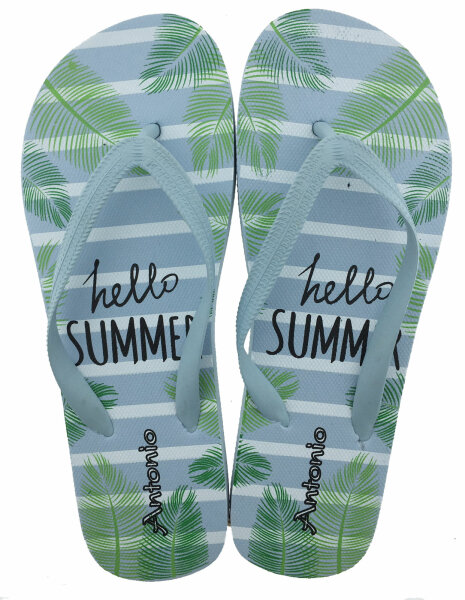 Lady Beach Slipper Hello Summer 36/37 Aqua