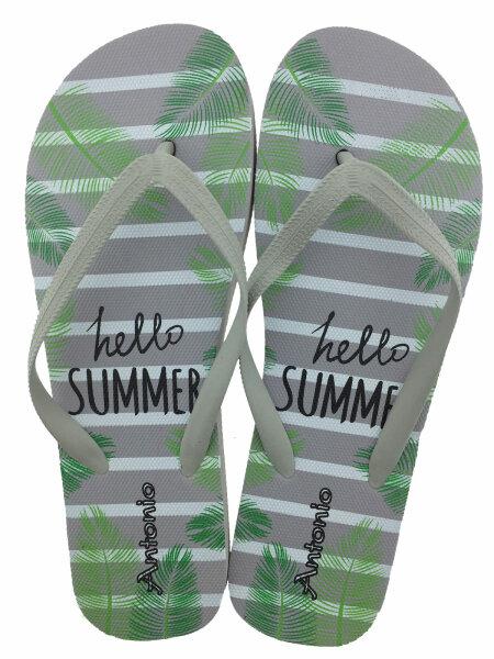 """Lady Beach Slipper """"Hello Summer"""""""" 40/41 Grau"""