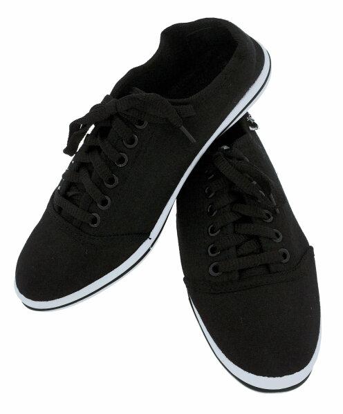 """Damen Sneaker """"Black & White"""" 38 Schwarz leichter, eleganter Sommerschuh"""