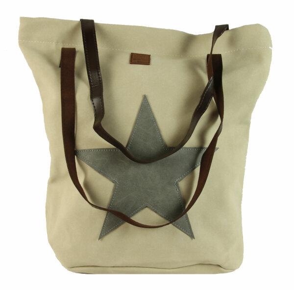 "Shopper ""Vintage Star""  beige"